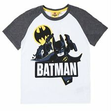 Boys Kids Official LEGO Batman Short Sleeve T Shirt Top