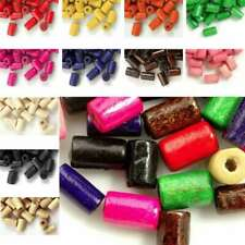 30g(200pcs Approx) Loose Wood Spacer Wooden Beads Charms Tube 8mm Hot Sale