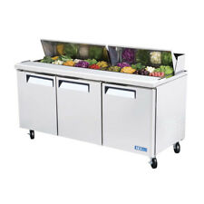 Turbo Air MST-72, 72-inch Refrigerated Salad / Sandwich Prep. Table with Three D