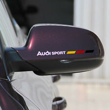 2x Car Sticker For Audi Sport Mirror Reflective Vinyl 2 Colors Tuning Auto Decal