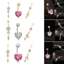 Fashion Body Navel Rings Crystal Belly Button Ring Bar Piercing Jewelry Beauty