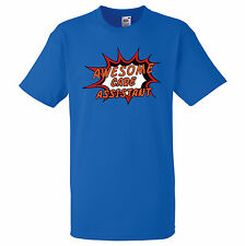 AWESOME CARE ASSISTANT PERSONALISED COMIC BOOK PRINT T SHIRT