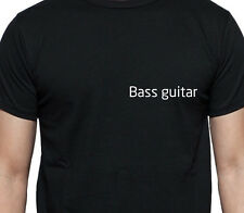 BASS GUITAR PERSONALISED POCKET LOGO T SHIRT MUSCIAL INSTRUMENT