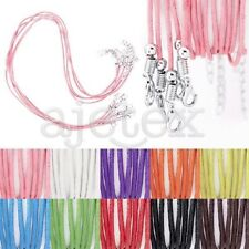 10pcs Cotton Cord Wire Ribbon Lobster Clasp Necklace Jewelry Beading 1.5x1.5mm