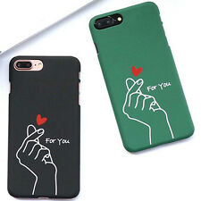 New PC Hard Phone Case Cover For iphone 6 7 Plus Finger Loving Heart For You