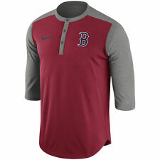 Nike MLB Authentic Collection Boston Red Sox Dri-FIT 3/4 Sleeve Henley T-Shirt