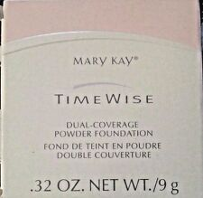 Mary Kay IVORY 100 or BRONZE 708 Time Wise Dual Coverage Powder Foundation .32oz