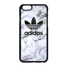 New Adidas Logo White Marble Print Hard Plastic Case For iPhone 5s 6 6s 7 8 Plus