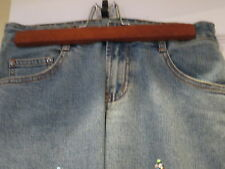 Stunning Jeans Stone & Bead  Embellished Size Small 100% Cotton