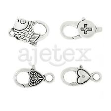 10pcs Lobster Claw Clasp Antique Silver for Fish/Heart Jewelry