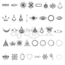10-300pcs Tibetan Silver Pendant Hole Connector Jewelry Finding
