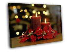 Candles Lights Christmas Ornaments Art Print CANVAS UK