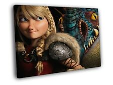 How to Train Your Dragon Cartoon Hiccup Print CANVAS UK