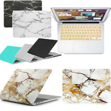Rubberized Marble Pattern Matt Hard Case + Match Keyboard Cover For New Macbook