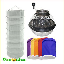 Stainless Pro Manual Leaf Trimmer Hydroponic Plant Drying Net Extraction Bags