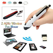 Mini 2.4GHz USB Wireless Optical Pen Mouse Adjustable 1600DPI For Android Laptop
