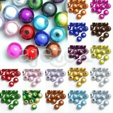 10/20/40/80/120pcs Acrylic Beads Round Illusion Miracle 4/6/8/10/12mm 18 Colors