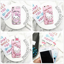 Cartoon 3D Cute Hello Kitty  Soft TPU Silicone Case Cover Back Skin For iPhone