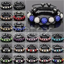 7pcs Crystal Disco Ball Rhinestones Beads Gift Adjustable Bracelet 22 Color
