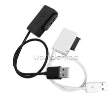 White/Black SATA to USB 2.0 Adapter Cable For Laptop CD DVD Rom Drive 7+6 13Pin