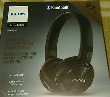 Philips Wireless Active Shield Bluetooth Noise Canceling Headphones SHB8750NC