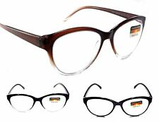 Women's PROGRESSIVE 3 in one Multi Focal Cat Eye Reading Glasses No Line