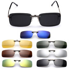 Cool Sunglasses Polarized Clip On Flip-up Driving Glasses Day Night Vision Lens