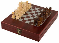 Wood Chess Set,  With Rosewood Finish Box & Chess Board, Portable. Great Gift