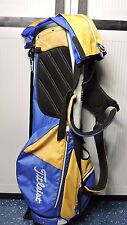Titleist Golf Stand Bag Lightweight Dual Strap Blue Orange w/ Rain Cover CC LOGO