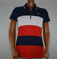 NWT Women's Tommy Hilfiger Short-Sleeve Polo  White  Red Blue  M L XL