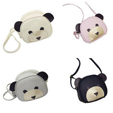 1Pcs 2017 PU Leather HOT Shoulder Bag Girl's Cute bear face Women Handbags