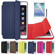 PU Leather Smart Case Cover For Apple iPad mini 1 2 3 Retina + Film Pen Set New