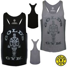 Golds Gym Muscle Joe 2 Tone Slogan Premium Tank Top Stringer CURRENT COLLECTION