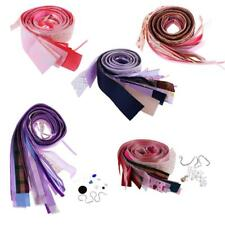 Mixed Solid Grosgrain Ribbon Bow Festival Party Scrapbook Craft Lot DIY Hair Bow