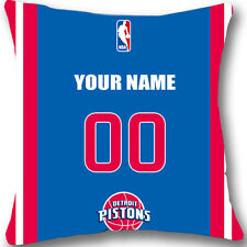 Custom zippered Detroit Pistons Pillow Case With Your Name and Numbers L957