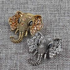 Cute elephant Brooches Pin Up Jewelry Women Suit Hats Clips Antique Brand Bijoux