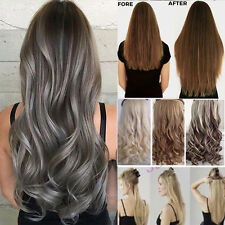 One Piece Real Natural Clip in Hair Extensions Curly Straight Hair Extentions AP