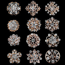 12pcs Mixed Unisex Girls Brooch Pin Rhinestone Crystal Brooches Pins Jewellery