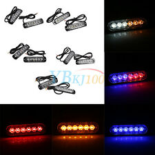 2x Car Truck 6LED Strobe Signal Light Flash Emergency Hazard Warning Lamp 6W ES