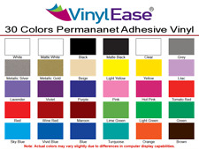 1 Roll 12 inch x 40ft Permanent Sign Craft Vinyl UPick from 30 Colors $25.99 ea