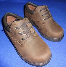 NEW Academy Tuff BROWN chocolate oiled DRESS church oxford SHOES little BOYS 11.