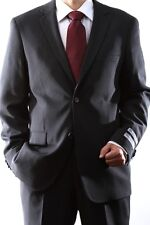 MENS 2 BUTTON SUPER 140S WOOL MAX SOLID CHARCOAL SLIM FIT SUIT, 40712H-40702-CHA