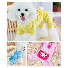 Hot Small Pet Dog Stripes Pajamas Coat Cat Puppy Cozy Clothes Apparel Clothing