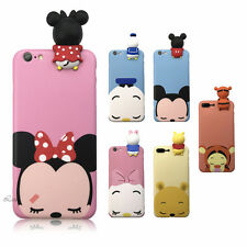 New 3D Cute Animal Cartoon Lovely Dolls Soft Silicone Case Cover Skin For iPhone