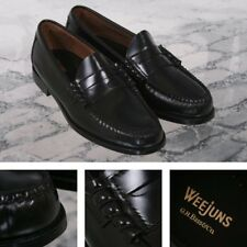 Bass Weejuns Classic Ivy League Mod 60's Leather Penny Loafer Shoe Black