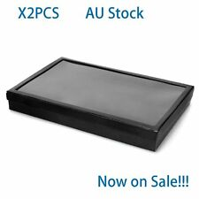 Sales!!!Jewelry Display Tray Velvet Pad Rings Storage Show Case 100 Grids Holder