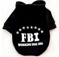 FBI Puppy Pet Dog Cat Clothes Hoodie Winter Warm Sweater Coat Costume Apparel