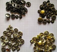 Snap fasteners Press studs Set 30 x 15mm snaps with Setter and hole punch 4 cols