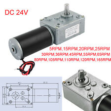 DC 24V 5-165RPM Turbo Worm Geared Motor Dual Shape Shaft Electric Power