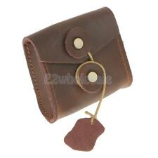 Leather Storage Case Bag Carry Pouch for Earphone Earbuds Cable Money Coin